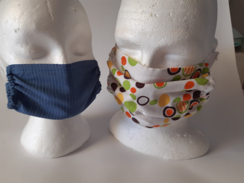 Reusable fabric masks made to order