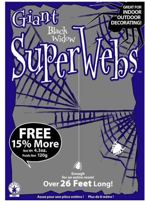 Giant Spiderwebs with Spiders.  Huge Halloween Decorations