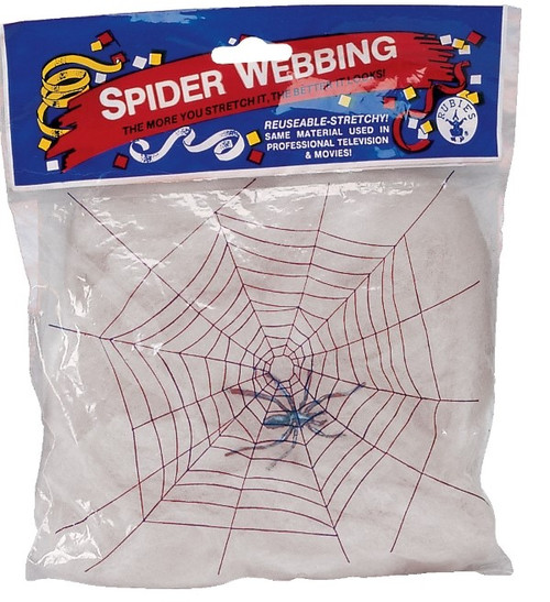 White Spider Webbing Cobwebs with Spiders