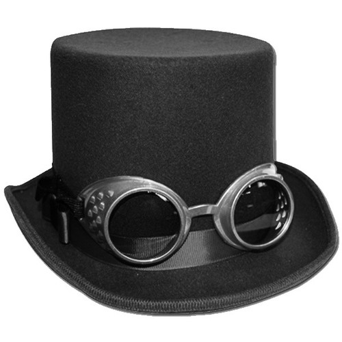 Steampunk Top Hat in Black and Silver