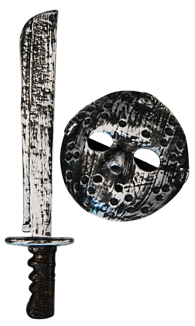 Hockey Mask and Machete Set
