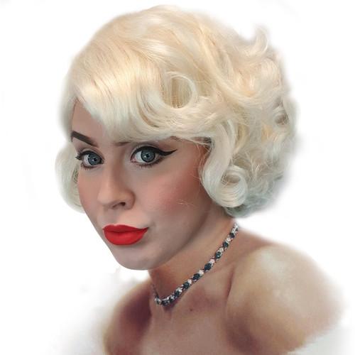 Blonde Flapper or Marilyn Monroe Wig