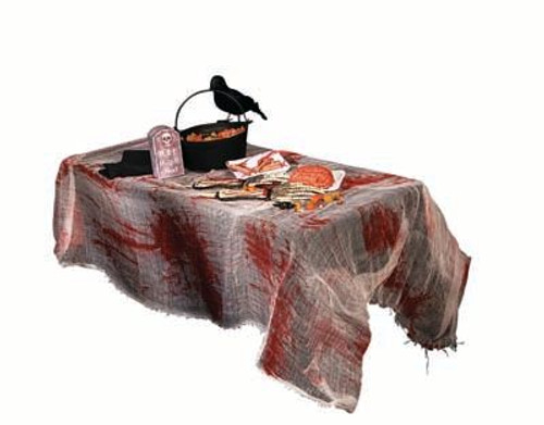 Bloody Gauze Table Cover - Halloween Decoration