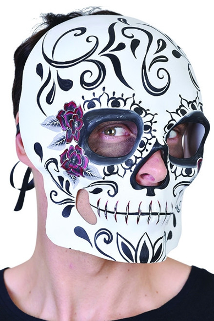 Sugar Skull Day of The Dead Mask - Halloween