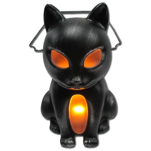 Light up Cat lantern with Glowing Eyes