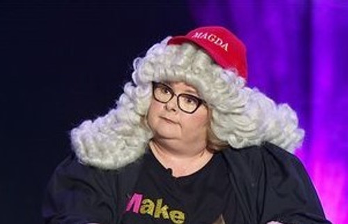 Judges Wig Styled for Magda Szubanski at The Melbourne Comedy Festival