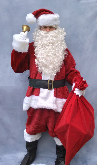Crimson Fur Santa Costume for Hire from The Littlest Costume Shop in Preston