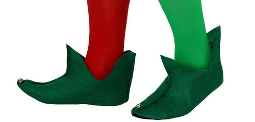 Green Felt Elf Shoes for Sale - The Littlest Costume Shop