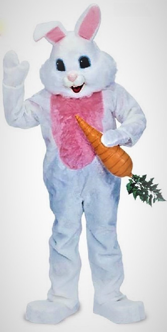 Plush Mascot Easter Bunny Costume for Hire from The Littlest Costume Shop in Melbourne