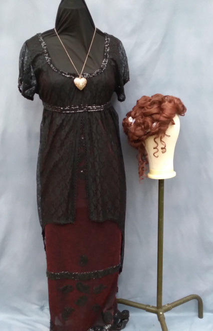 For Hire - Rose Titanic Dress (Size 14-18), Wig and Accessories - The Littlest Costume Shop