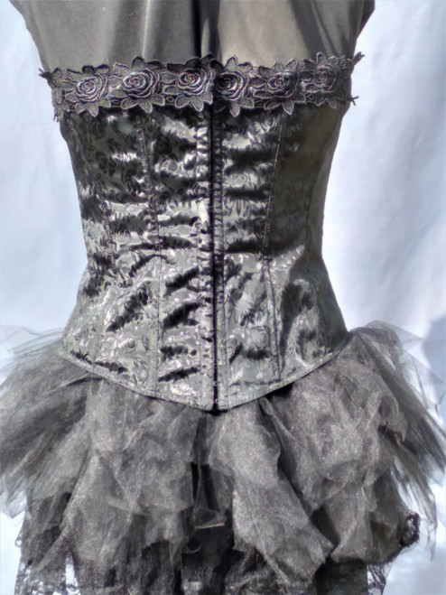 Black Corset with matching Tutu for hire from The Littlest Costume Shop