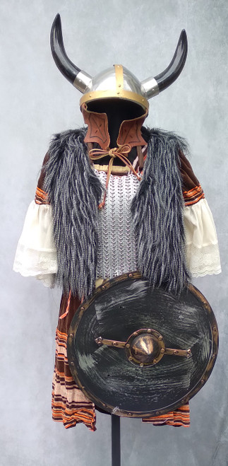 Viking Shield Maiden or Valkyrie Costume for Hire from The Littlest Costume Shop in Melbourne