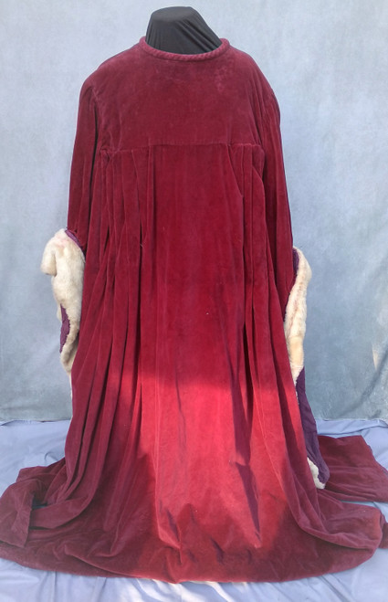 Long Red Velvet Medieval Robe for Hire from The Littlest Costume Shop in Melbourne.