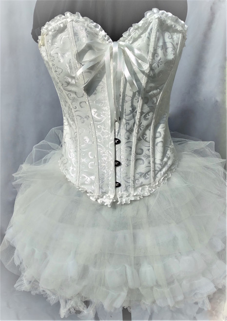 White Corset and Mini Petticoat for Hire in Size 8-10 from The Littlest Costume Shop in Melbourne