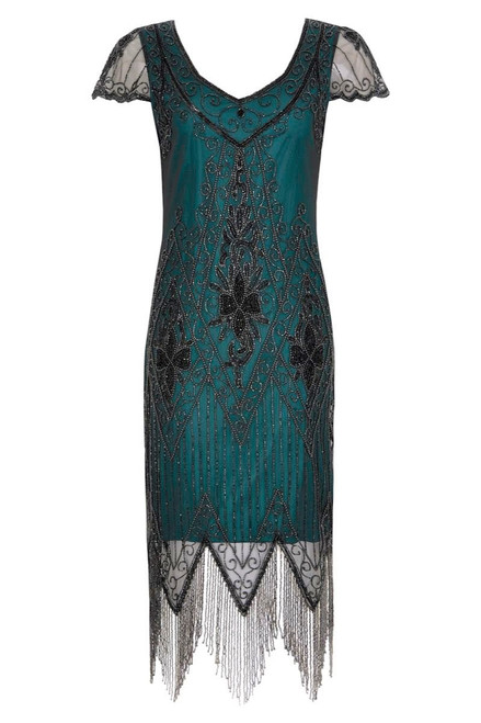 Flapper Dress in Teal and Black for Hire - The Littlest Costume Shop in Melbourne