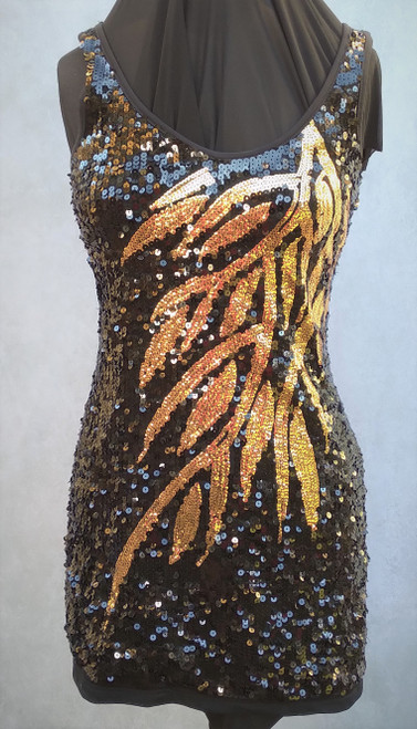 1980's Stretch Sequin Mini Dress for Hire from The Littlest Costume Shop in Preston, Vic.