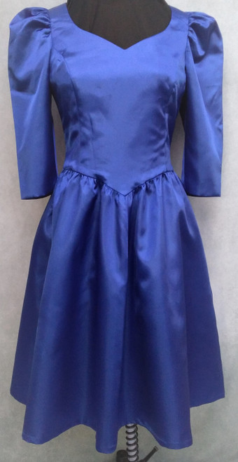 Blue 1980s Prom Dress for Hire from The Littlest Costume Shop in Preston, Vic.