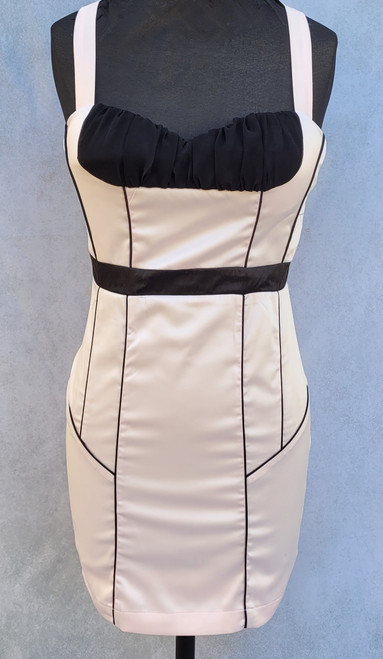 Pink and Black 1950's style 'wiggle' dress for Hire - The Littlest Costume Shop in Melbourne