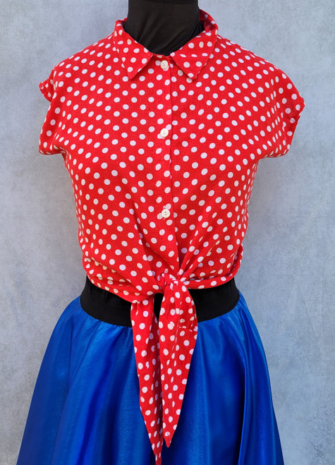 Red Polka Dot blouse for Hire from The Littlest Costume Shop in Melbourne