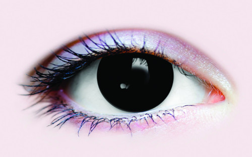 Black Out Possessed Evil Halloween Contact Lenses