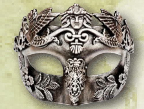 Decorated Silver Masquerade Mask - The Littlest Costume Shop in Melbourne