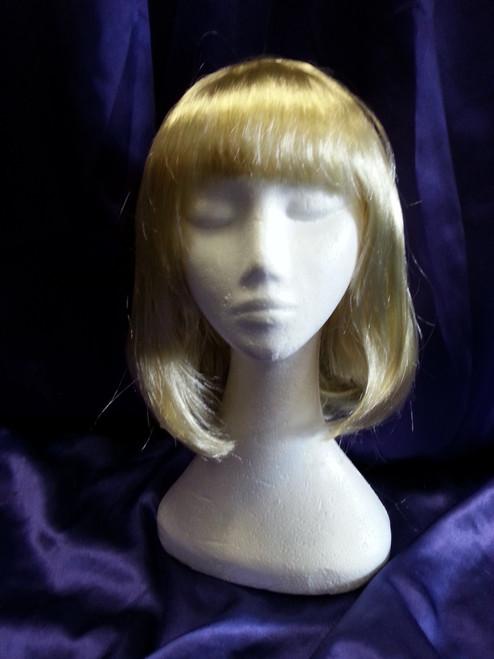 Blonde Mid-length bobbed wig.