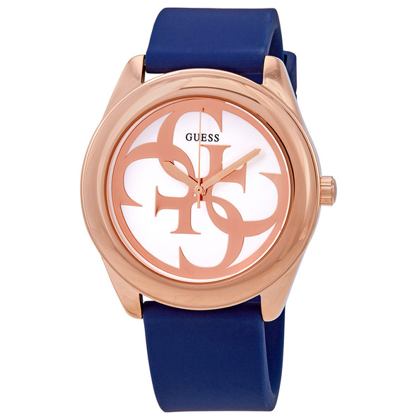 GUESS Women's Stainless Steel Silicone Watch
