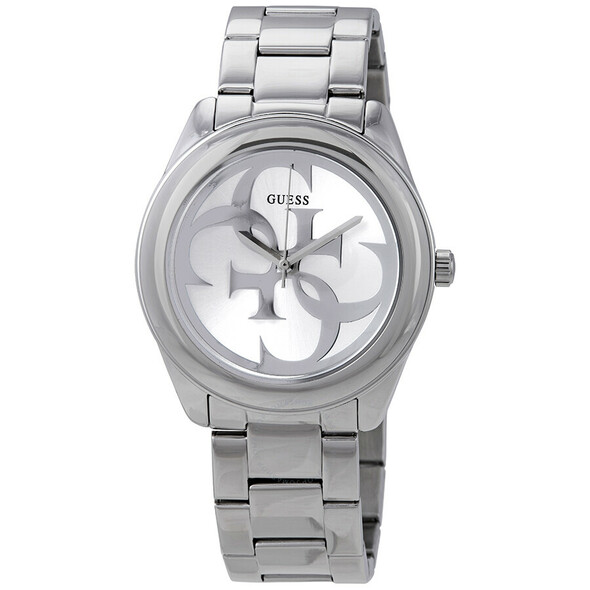 Guess G-Twist Silver Dial Ladies Watch