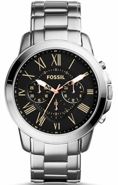 Men's Fossil Grant Chronograph Stainless Steel Watch