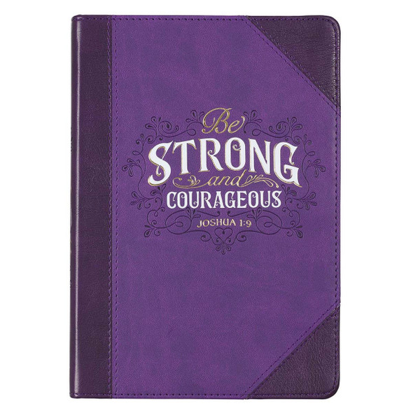 JL490 Journal Classic Purple Be Strong & Courageous