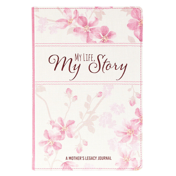JLP025 Journal Faux Leather Prompted My Life My Story Pink