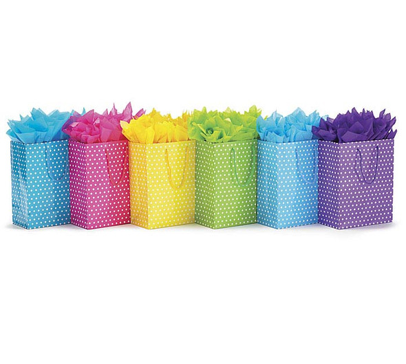 BRIGHT DOTS ASSORTED GIFT BAG SET Product #: 9716242