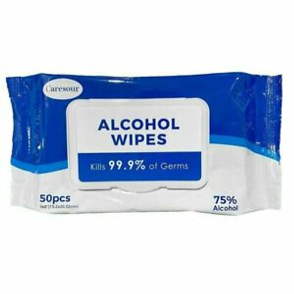 50PK 75% ALCOHOL DISINFECTING WIPES