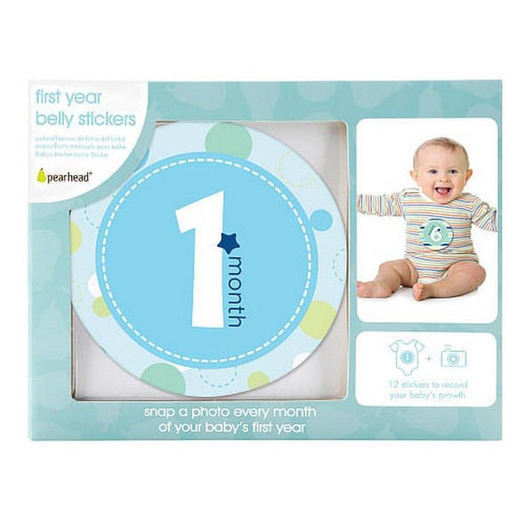 """"""" FIRST YEAR BELLY STICKERS- BLUE"""