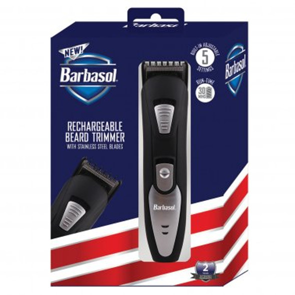 Men's Rechargeable Beard Trimmer with Adjustable Comb