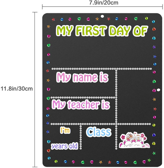 8'x12' DIY First Day of School Chalkboard Reusable First Day of School Signs
