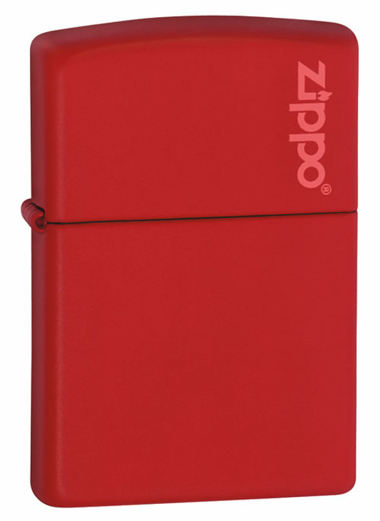 LOGO MATTE COLOURED REGULAR LIGHTER - RED