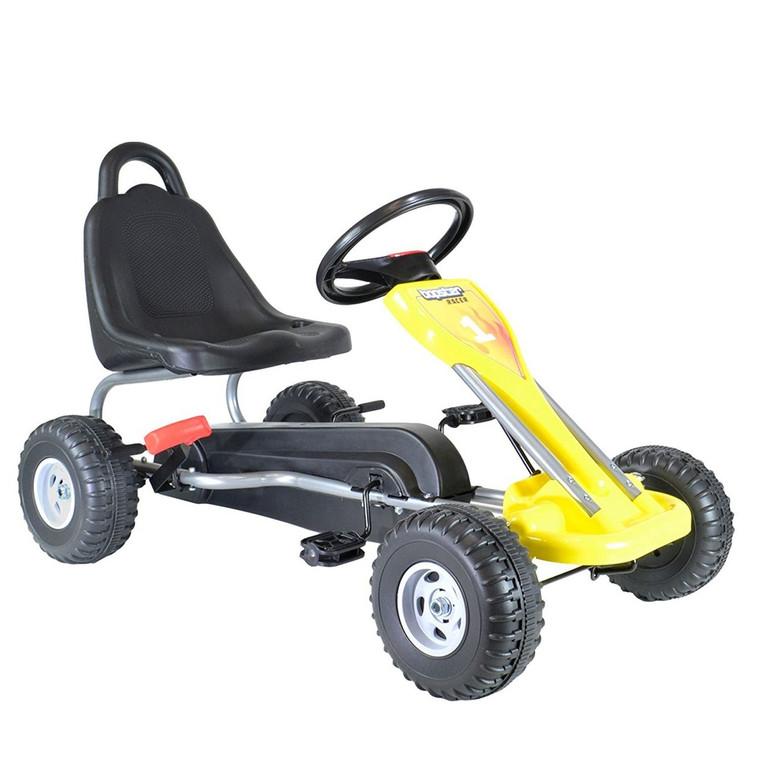 GoKart Yellow - Solid Wheels 3-5 Years