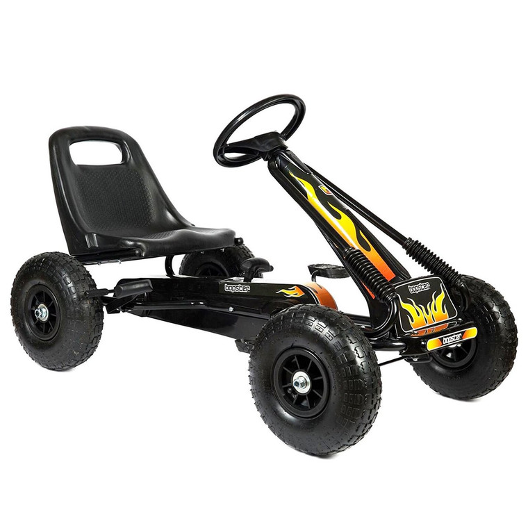 Pedal Go Kart with Inflatable Tyres 5-8 Years – Flame