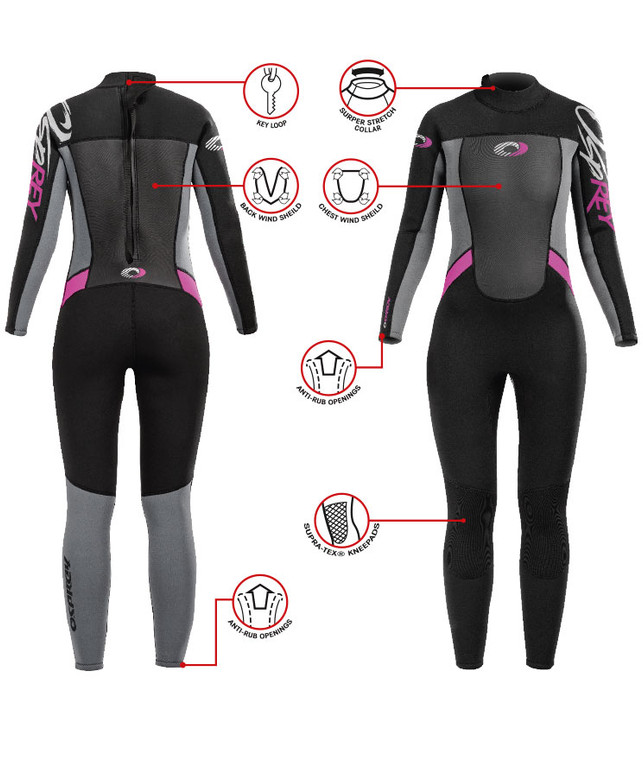 Womens Osprey Full Wetsuit
