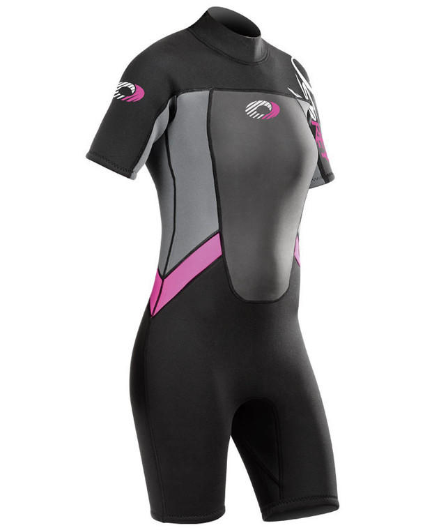Girl's Origin Pink Shorty 3/2mm Wetsuit
