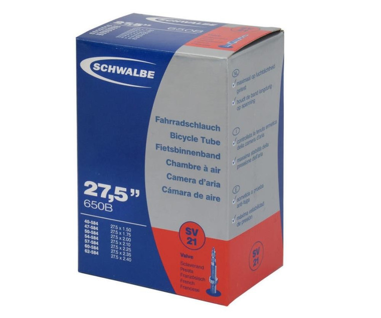 27.5 X 1.50 - 2.40 INNER TUBE | PRESTA VALVE