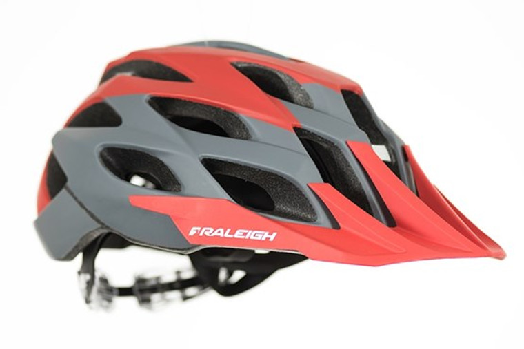 RALEIGH TYR CYCLE HELMET | GREY / RED