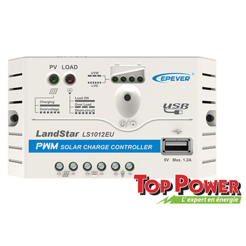 EPSOLAR  Charge Controller PWM 10A 12/24Vdc - USB Port