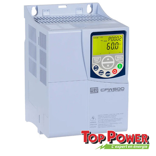 WEG VFD Variable Frequency Drive 3HP 24A 220Vac 1PH/3PH input / 3PH Output