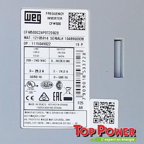 CFW500C24POT2DB20 Body Code