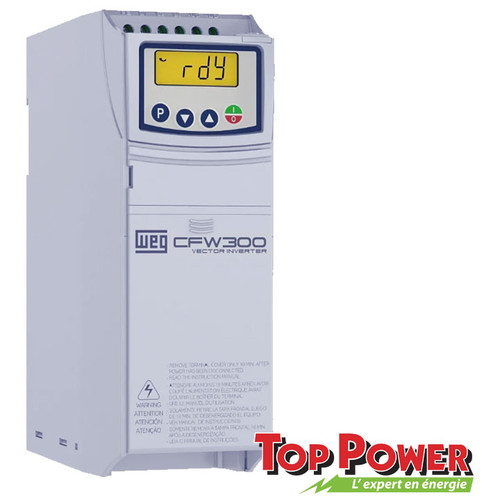 WEG VFD Variable Frequency Drive 3HP 10A 220Vac 1PH/3PH input / 3PH Output