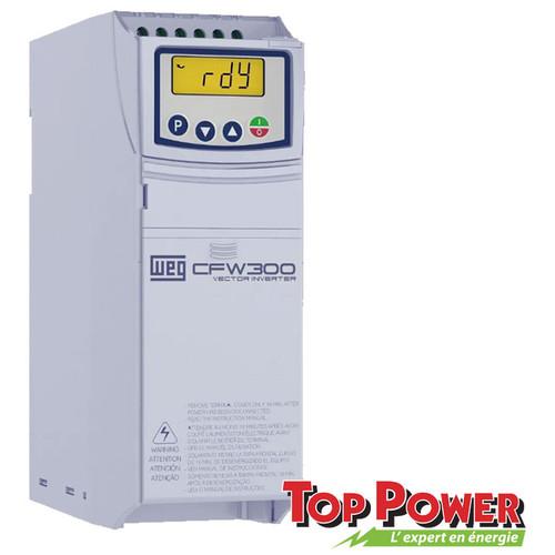 WEG VFD Variable Frequency Drive 3HP 10A 220Vac 1PH/3PH input / 3PH Output