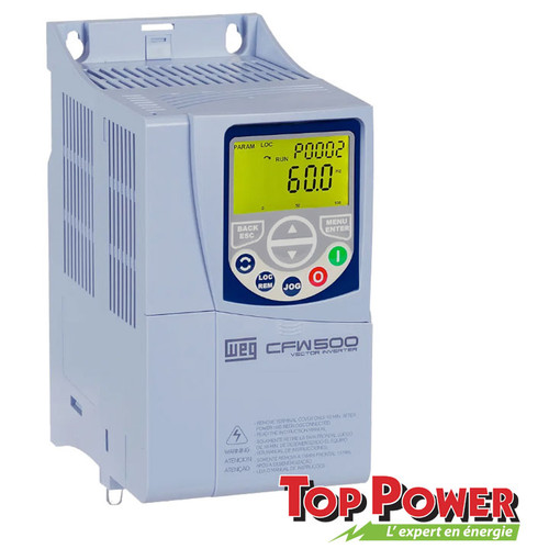 WEG VFD Variable Frequency Drive 3HP 16A 220Vac 1PH/3PH input / 3PH Output