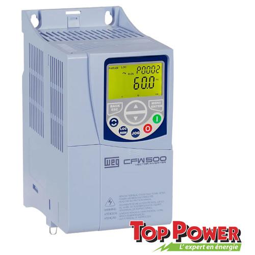 WEG VFD Variable Frequency Drive 3HP 16A 220Vac 1PH/3PH input / 3PH Output